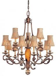 cartouche bronze cartouche bronze ed pen shell glass up chandelier