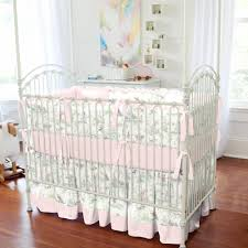 pink over the moon toile crib bedding