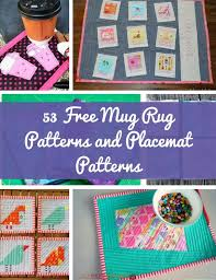 53 Free Mug Rug Patterns and Placemat Patterns | AllFreeSewing.com &  Adamdwight.com