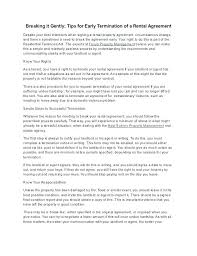 Rent Notice Letter Related Post Lease Cancellation Template Terminate Rental