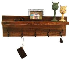 Distressed Wood Coat Rack With Shelf Enchanting Rustic Entryway Shelf And Coat Rack Rustic Display And Wall