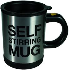 The creative self stirring mug is for the ultimate lazy men. Amazon Com Out Of The Blue Self Stirring Mug Stainless Steel Silver 13 5 X 9 5 X 13 0 Cm Kitchen Dining