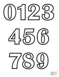 Klassieke Alfabet Cijfers Grafiek Kleurplaat Gratis Kleurplaten In