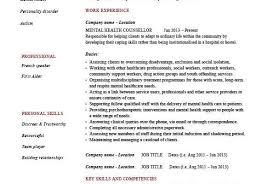 Mental Health Counselor Resume Job Example 26459