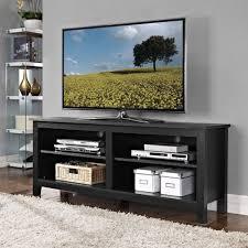 tv stand console center entertainment dvd media open storage