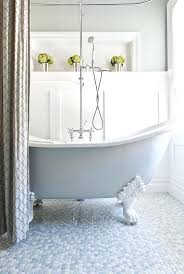 white bathtub paint view in gallery painted tub and penny flooring give this bathroom a tranquil white bathtub paint