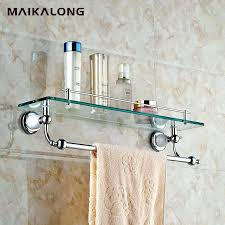glass shelf with towel bar bathroom glass shelf with towel bar chrome com glass shelf with