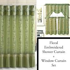 interesting shower curtain bathroom window curtains with matching inspirational design and double swag cur
