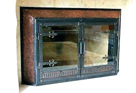 painting fireplace doors antique hand forged blacksmiths forge with brass door trim firepl painting brass fireplace doors