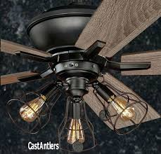 weatherproof outdoor fans rustic ceiling fan w industrial cage light more waterproof outdoor ceiling fans with