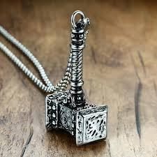 whole mens solid viking thors hammer pendant necklace snless steel vine mjolnir norse jewelry silver jewelry gold jewelry from whatless