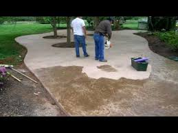 stamped concrete patio with fire pit cost. Stamped Concrete Patio Time Lapse Concreteva Youtube Cost With Fire Pit :
