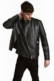 h m mens biker jacket black black outerwear
