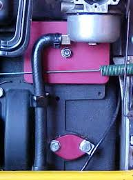kirk engines inc >> garden tractor performance parts breather cover allows remote routing of breather gasses keeping exterior of engine clean unrestricted passage lets engine breathe more ly