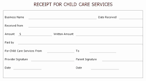 Free Printable Daycare Invoice Template Awesome Service Receipt ...