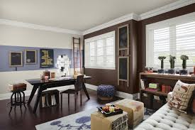 home office paint color schemes. wall dawning an trendy color schemes home office rich brown paint
