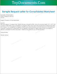 Sample Request Letter For Marksheet Png