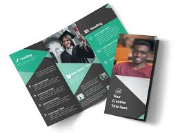 Education Brochure Templates Computer Education Tri Fold Brochure Template