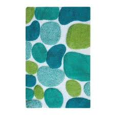 pebbles brights pool blue 2 ft x 3 ft indoor bath rug