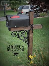 mailbox designs. Mailbox With Unique Ironwork Accents Designs L