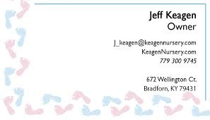 Pink And Blue Baby Feet Business Cards By 123print