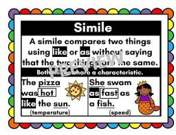 Simile Anchor Chart Simile Anchor Chart