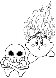 fire kirby coloring page fire kirby coloring page free printable coloring pages on fire coloring pictures