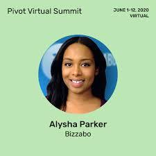 Alysha Parker from Bizzabo at Pivot Virtual Summit