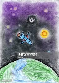 Rysunek Uruchomienie Rakiety Kosmicznej Obrazy clipart