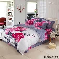 brilliant newest arrival pink fl chinese bedding set for in flower comforter sets designs 2