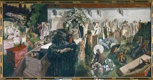 The Cookham Resurrection by English artist Stanley Spencer