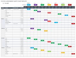 030 Ic School Assignment Gantt Chart Template Free Excel