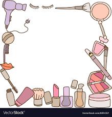 makeup frame vector image