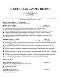 sample electrical resume