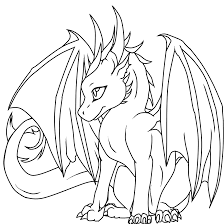 Baby Dragon Has Horns Coloring Pages For Kids #cfG : Printable ...