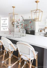 Pendant Lights Above Island Height Spacing Of Pendant Lights Over A Kitchen Island My