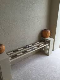 cinderblock furniture. Free Cinder Block Porch Bench, Outdoor Furniture Cinderblock