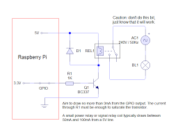 raspberry pi driving a relay using gpio susanet schematic for a relay via gpio on the raspberry pi