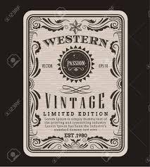 vector western frame border vintage label hand drawn engraving retro antique vector illustration t2 antique