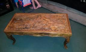 hand carved coffee table writehookstudiocom