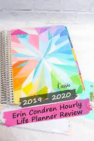 Hourly Planner 2020 2019 2020 Hourly Erin Condren Life Planner Review