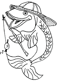 Printable Fish Coloring Pages Of Goldfish Color Cute Bass Bowl