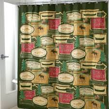 Shower Curtains Cabin Decor Rather Be Fishing Bathroom Shower Accessories Lodge Cabin Bath Decor