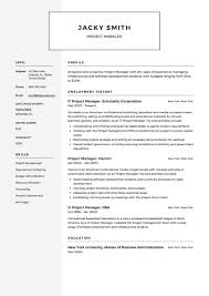 Project Management Y Template Free Example Manager Resume Samples