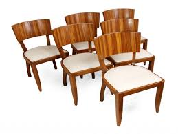 Furniture: Art Deco Dining Chairs Fresh Art Deco Dining Chairs 1930s Set Of  6 For