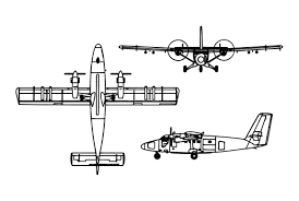 de havilland dhc 6 twin otter orthographically projected diagram of the de havilland dhc 6 twin otter