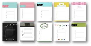 template list to do list template
