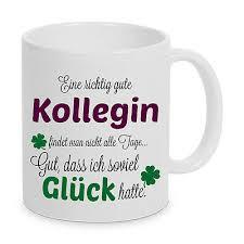 Gute Kollegin Tasse Geschenk Spruch Lustig Kaffeetasse Arbeit Beste