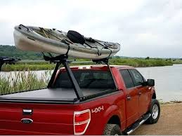 kayak in truck bed a heavy duty truck bed cover and kayak rack on a ...