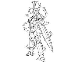 Dbz Cell Coloring Pages Dbz Xicor Colouring Pages Cell Dragon Ball